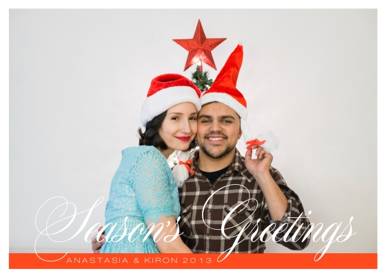Cursive Christmas Card Photo