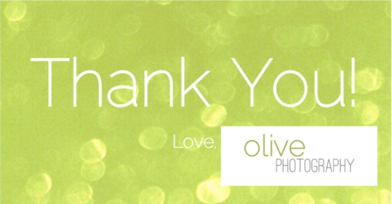 Thank You Olive Photography Bokeh Bestest