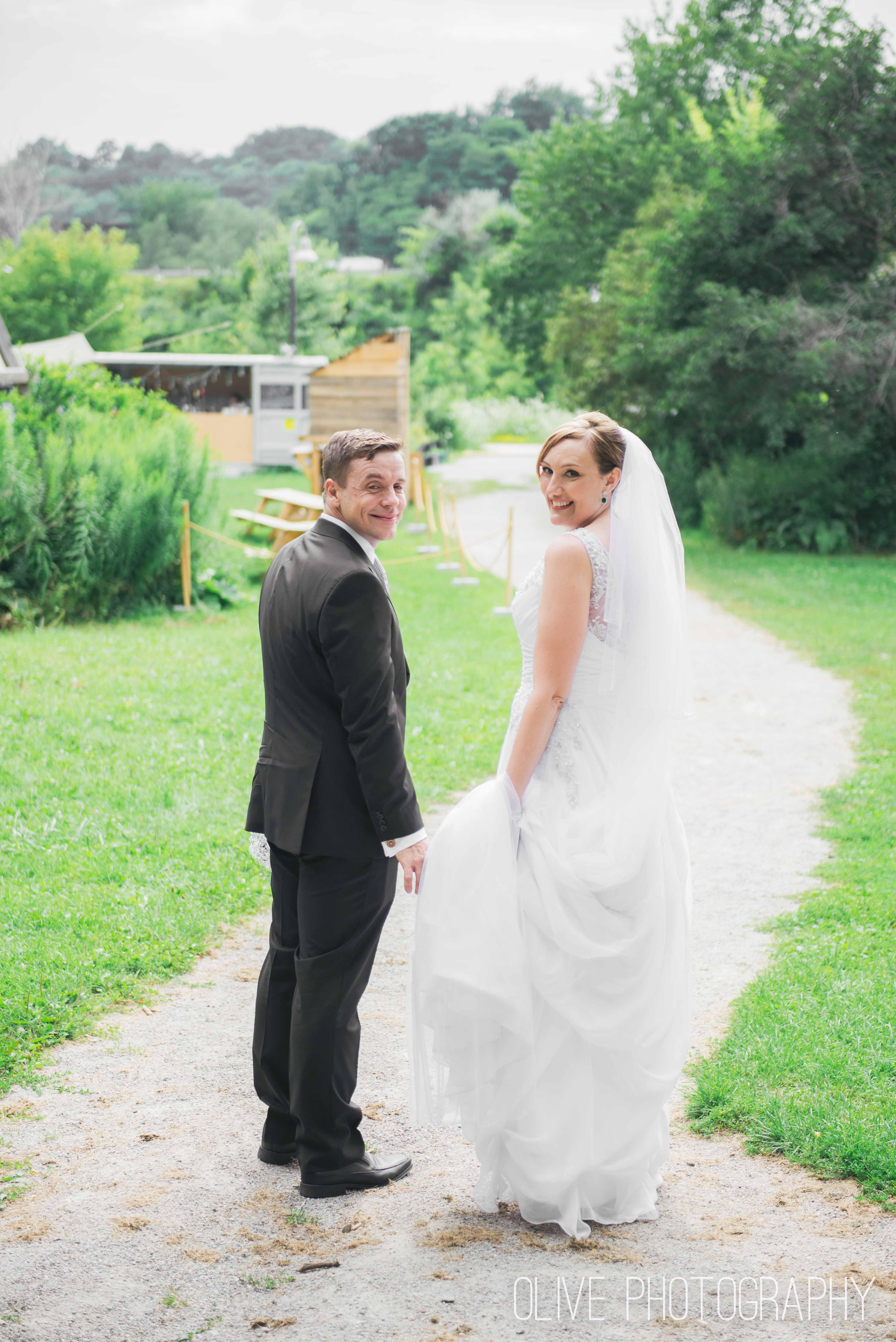 Todmorden Mills wedding photos